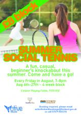 Active Fenland – Summer Social Tennis